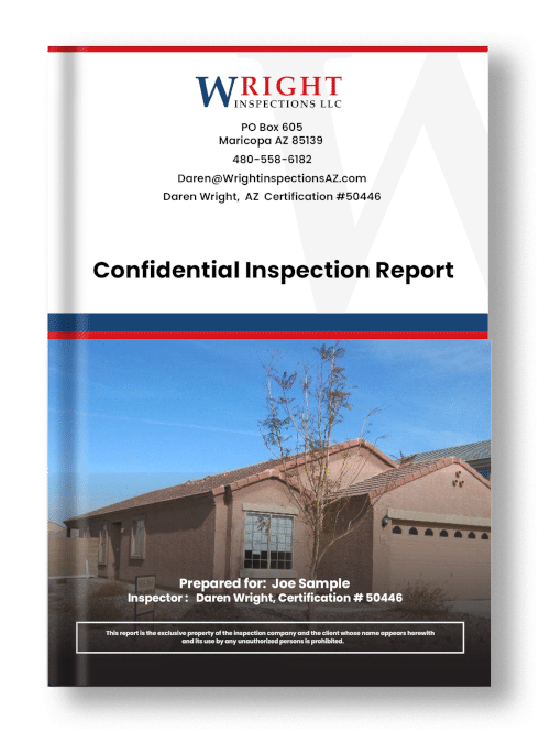 Newer home sample home inspection report cover