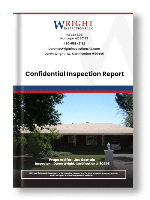 Older home sample home inspection report cover
